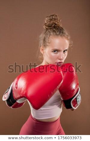 Hazır rakip konsantre kıdemli aktif kadın Stok fotoğraf © pressmaster
