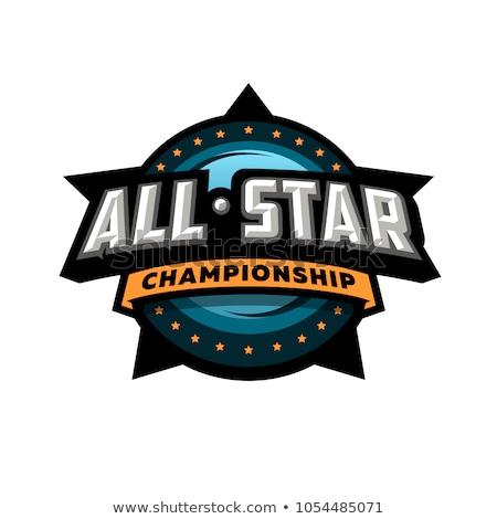 Sportowe turniej projektowanie logo piłka nożna ramki zwycięzca Zdjęcia stock © SArts