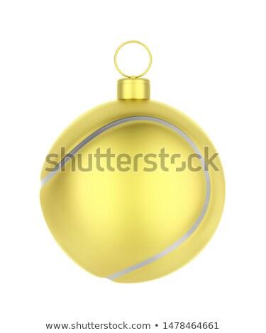 Golden tennis ball like Christmas ornament Stock photo © magraphics