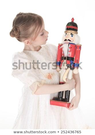 Ballerina who holding a nutcracker Stock photo © Lopolo
