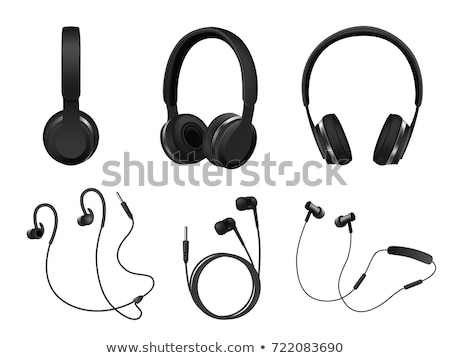 Listening Audio Device Wireless Headphones Vector Stock photo © pikepicture