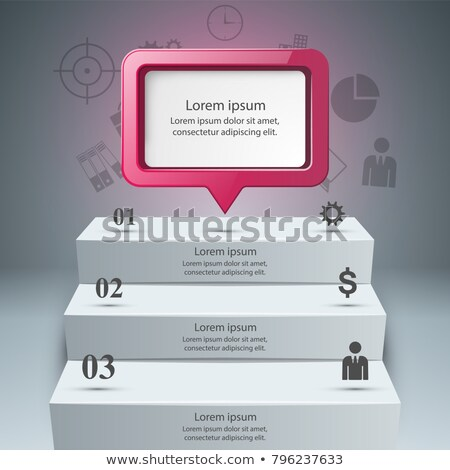 Stockfoto: Infographics · omhoog · ladder · succes · business · trap