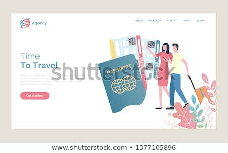 Time to Travel, People Walking with Baggage Website Stock photo © robuart