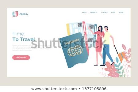 Czasu podróży ludzi spaceru bagaż stronie Zdjęcia stock © robuart