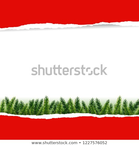 Ripped Red Paper With Furtree Stock photo © cammep