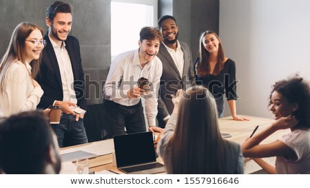 Business people talking with each other at the table in restaurant Stock photo © wavebreak_media