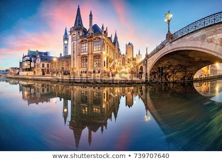 straat · België · historisch · centrum · stad · reizen - stockfoto © borisb17