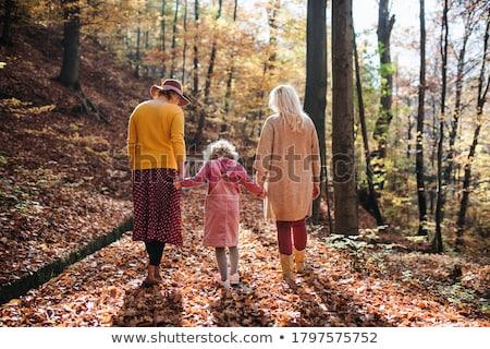 Anne kız orman birlikte aile ağaç Stok fotoğraf © Lopolo