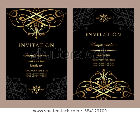 Invitation card - exclusive black and gold style Stock photo © blue-pen
