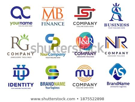 изменение стиль два письма комбинация логотип Сток-фото © krustovin