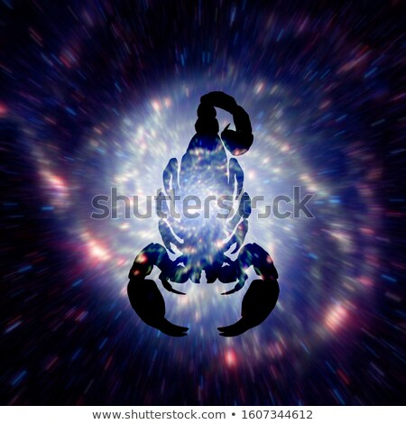 Foto d'archivio: Astrology Sign Of Scorpio With Mystic Aura In Universe Magic Ic