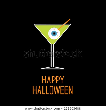 Halloween cocktail with eyeballs in glass. Stock photo © artjazz