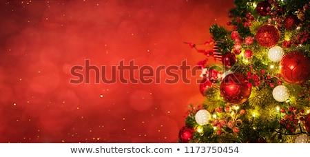 Christmas card with fir tree and candles Stock photo © karandaev