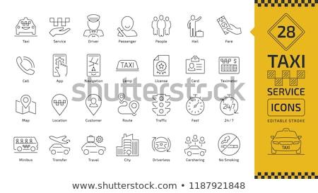 Parkolás alkalmazás telefon ikon vektor skicc Stock fotó © pikepicture