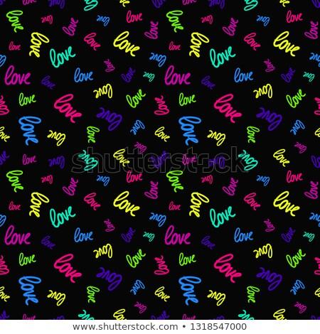 Engraçado dia dos namorados tipografia projeto namorado Foto stock © JeksonGraphics