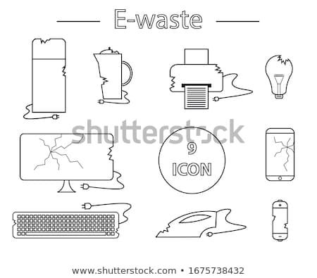 Brisé imprimante icône vecteur illustration Photo stock © pikepicture