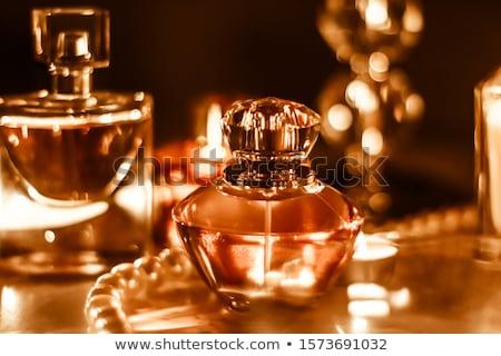Perfume garrafa vintage fragrância glamour vaidade Foto stock © Anneleven