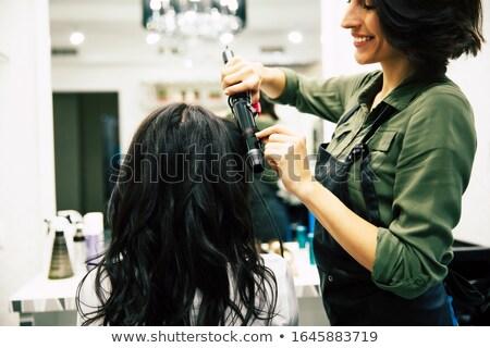 Schöne Mädchen romantischen professionelle Make-up Geruch Stock foto © ElenaBatkova