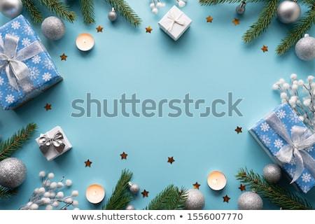 Pastel açık mavi Noel yalıtılmış beyaz Stok fotoğraf © ukasz_hampel