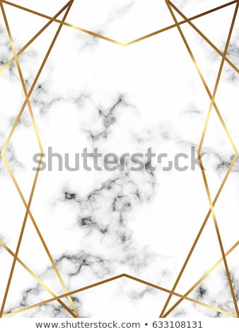 Vector geometric sparkling sequins banner with golden frame on black pattern background. Premium Stock photo © Iaroslava