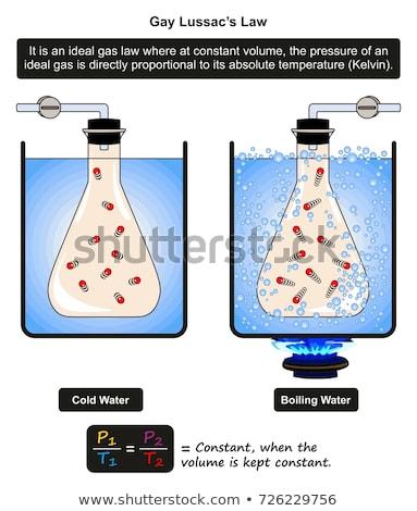 Chemia lekcja eksperyment laboratorium laboratorium wektora Zdjęcia stock © robuart