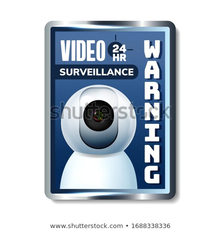 Video Surveillance Warning Nameplate Banner Vector Stock photo © pikepicture