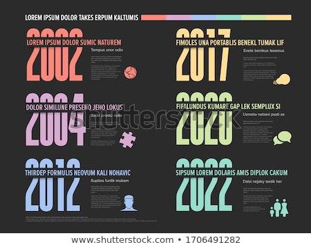 Sechs Timeline Vorlage groß Jahr Zahlen Stock foto © orson