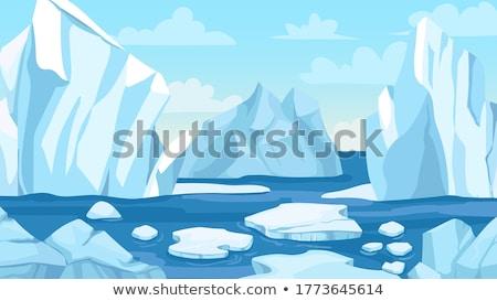 氷山 青 低い 水中 水 太陽 ストックフォト © ShustrikS