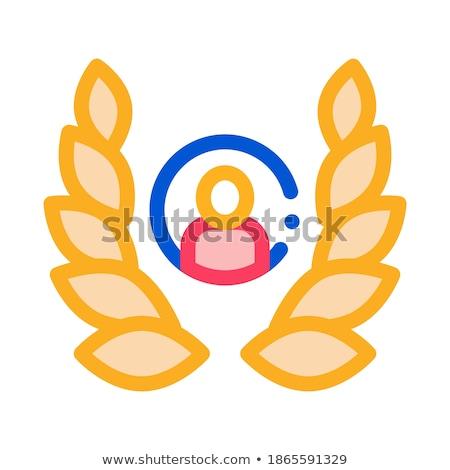 Insan defne ikon vektör örnek Stok fotoğraf © pikepicture