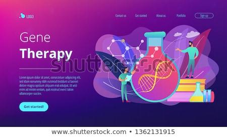 Gene terapia aterrissagem página cientistas lab Foto stock © RAStudio