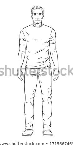 Man vector lichaam naakt sexy Stockfoto © beaubelle
