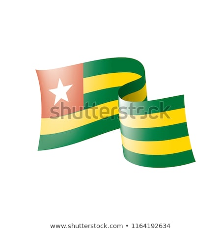 togo flag, vector illustration on a white background. Stock photo © butenkow