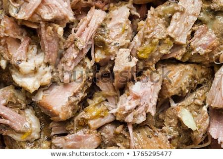 деревенский мексиканских американский свинина Тако Сток-фото © zkruger