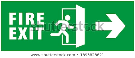 emergencia · salida · verde · señal · de · salida · manera - foto stock © darkves