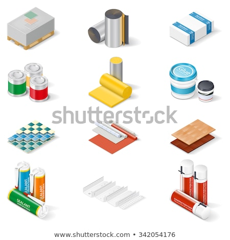Waterproof Material Paint isometric icon vector illustration Stock photo © pikepicture
