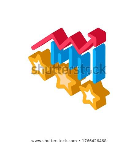 Bonus Star Statistics isometric icon vector illustration Stock photo © pikepicture