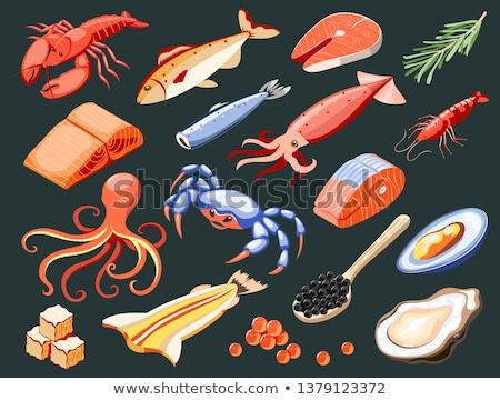 Caviar frutos do mar isométrica ícone vetor assinar Foto stock © pikepicture
