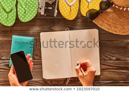Hand paspoort geïsoleerd witte Stockfoto © get4net
