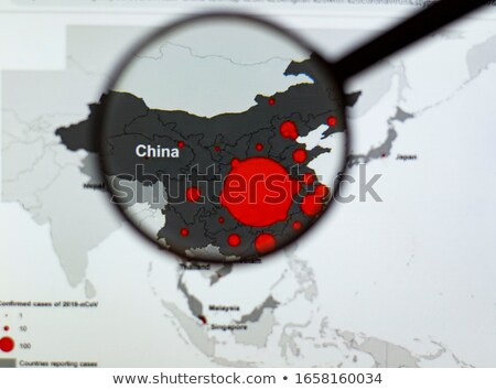 Photo stock: Loupe · Chine · pays · carte · blanche · verres
