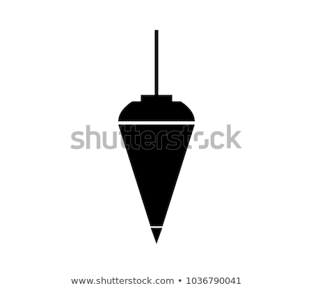 plumb bob with on white background Stock photo © gewoldi