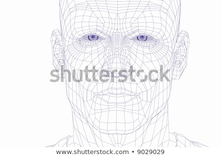 wire frame cyber man face Stock photo © Paha_L