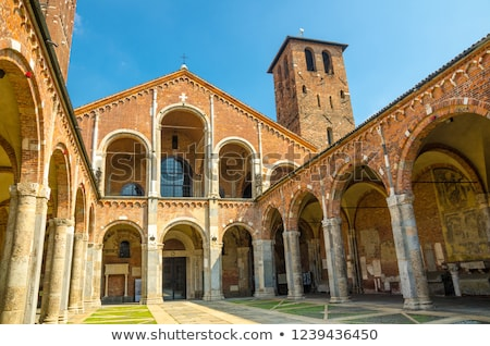 Igreja milan pormenor sino torre Foto stock © aladin66