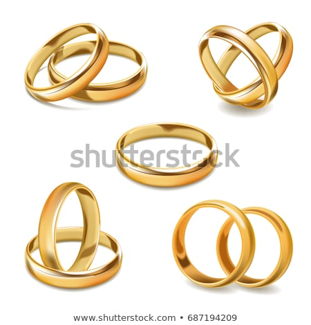 Twee gouden ringen liefde mode licht Stockfoto © Raduntsev