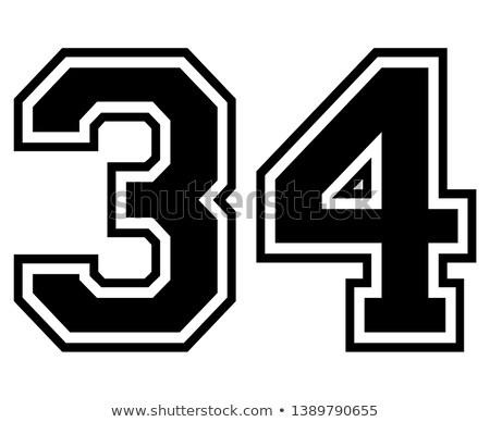 3,4 - number of football, Soccer number Stock photo © Archipoch