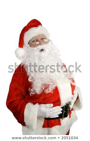 Traditional Santa Claus giving a big 'ho ho ho' belly laugh. Iso Stock photo © HASLOO