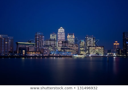 canary wharf at night london   england stock photo © fazon1