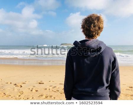 Tieners strand glimlach vrienden bikini portret Stockfoto © photography33