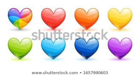 parlak · renkli · kalpler · iç · küresel - stok fotoğraf © pathakdesigner