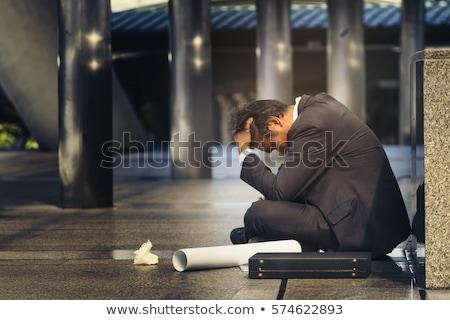 crisis: crying businessman Stock photo © smithore