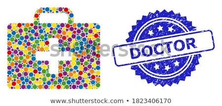expert in blue circles Stock photo © marinini